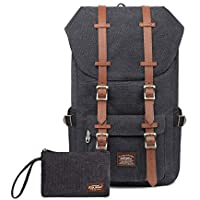 "Laptop Outdoor Backpack, Travel Hiking& Camping Rucksack Pack, Casual Large College School Daypack, Shoulder Book Bags Back Fits 15"" Laptop & Tablets by Kaukko"