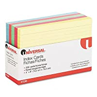 インデックスカード、4x 6パック、ブルー/サーモン/グリーン/チェリー/カナリア、100の2パックとして販売–: - - - - - - -–100–/–Total of 200各