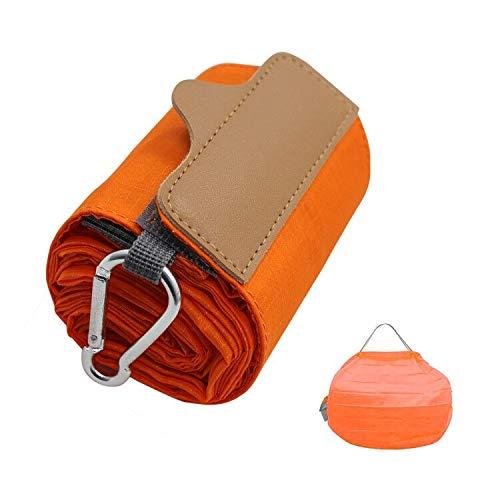 折りたたみ防水コンパクトバッグ (Mサイズ, オレンジ)