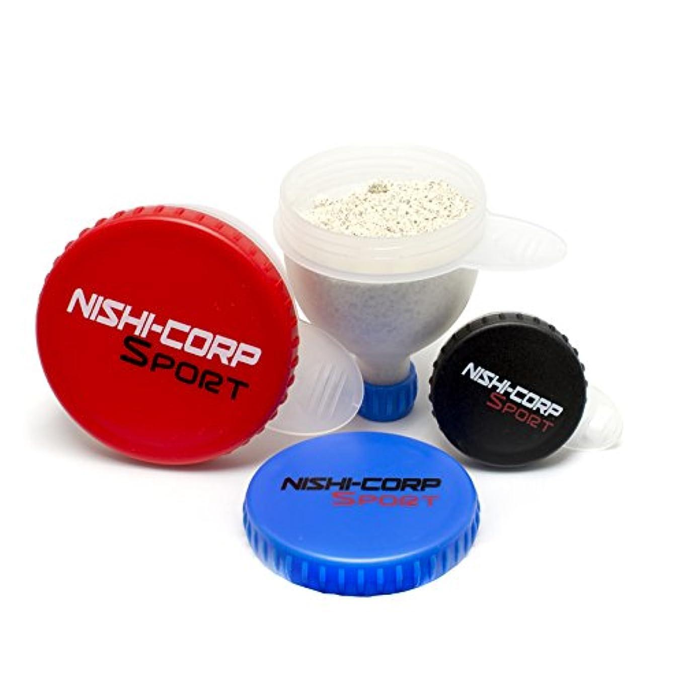 乱れモデレータ笑NISHI-CORP ファンネル 3サイズセット (プロテインサプリメント携帯容器)