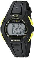 Timex男性Ironman Essential 10フルサイズ腕時計 Mens Standard ブラック/イエロー