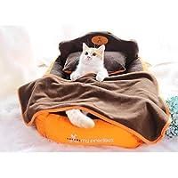 ペットベッド ペットソファー 小型犬 猫用 クッション付き 毛布付き 冬用 暖かい セット 洗える ふわふわ 室内用 ペット寝床