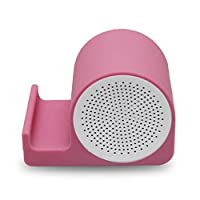BluetoothのオーディオNFCの電話のブラケット屋外の持ち運び小型で便利な電話ラップトップBluetooth接続 (Color : Pink)