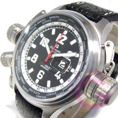 Aeromatic 1912(エアロマティック 1912) A1299 GMT ワールドツアー 3リューズ ビッグデイト ドイツミリタリー メンズウォッチ 腕時計[並行輸入品]