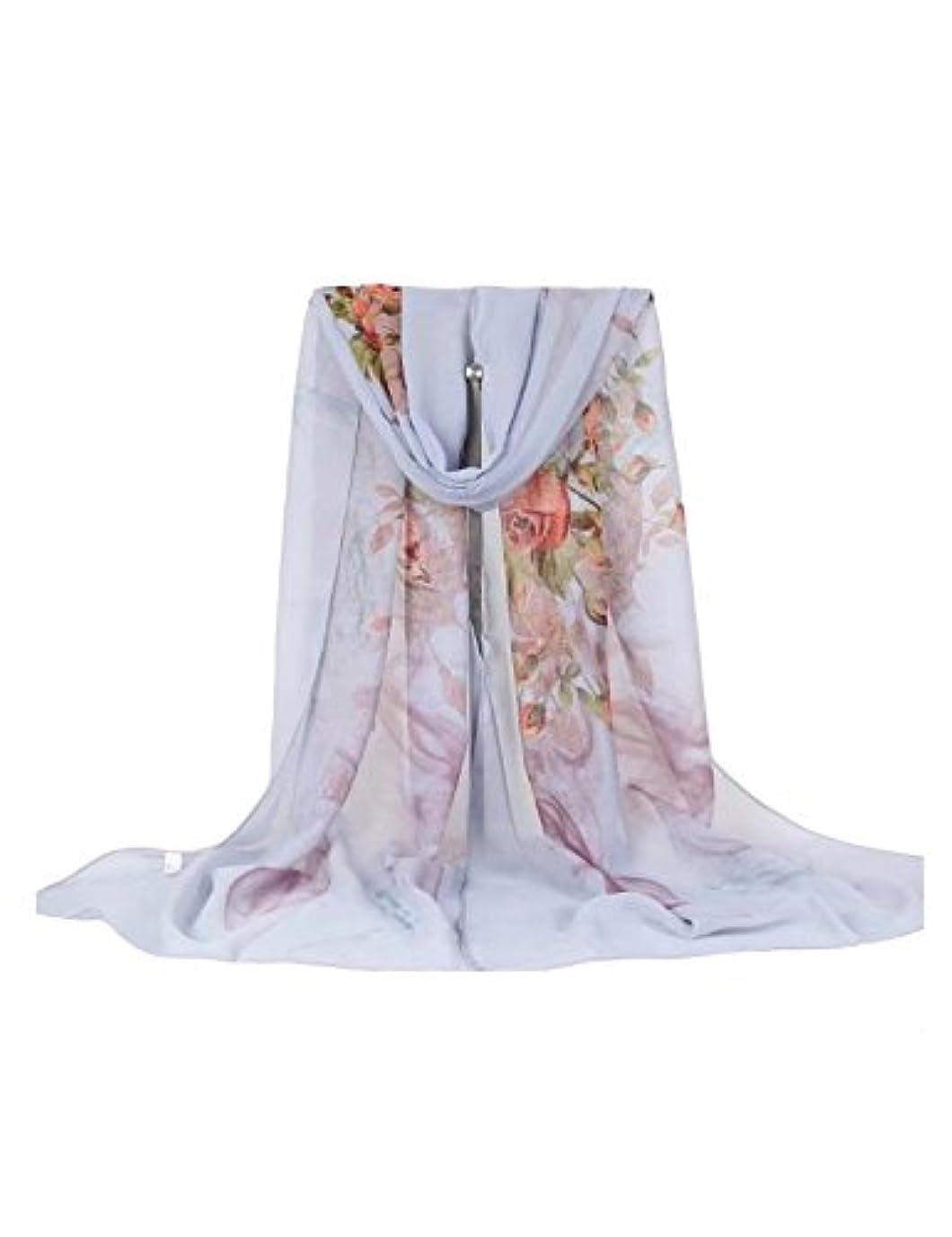 可動式独立して博物館Letuwj(レツダブリュジェ) レディース ソフト 薔薇プリント スカーフ