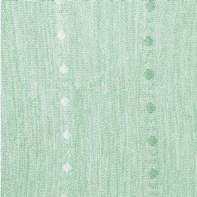 窓美人 ステップLight ドットストライプ柄ドレープカーテン 2枚組 幅100×丈90cm グリーン