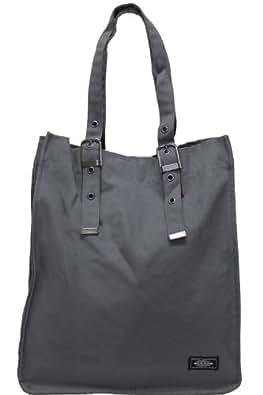 ベルト式無地ハンプトートバッグ(持ち手の長さ調節可能) グレー