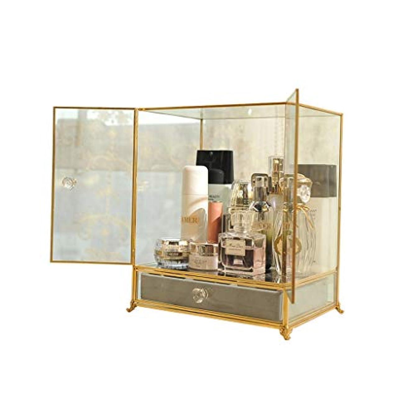 迷惑衝突コース地下収納キャビネットガラス化粧品収納ボックス引き出しジュエリー香水ドレッシングテーブル仕上げ