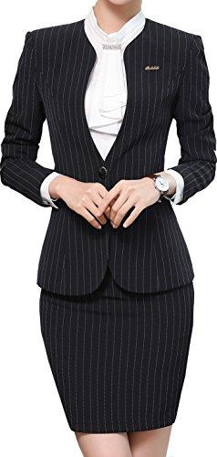 [해외]격정 女? 여성 세트 정장 OL 사무실 취업 비즈니스 통근 모집 사무 복장 긴 소매 스커트 정장 스트라이프/Passionate lady`s women`s suits OL office job hunting business commuter recruitment office work clothes long-sleeved skirt suit stri...