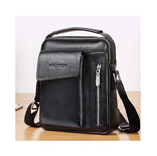DFV mobile - Bag Leather Waist Shoulder bag for Ebook Tablet iPAD mini/GALAXY TAB S6 - A 8.0 / MEDIAPAD M6 - T3 / MI PAD/LENOVO TAB V7 / VKWORLD VK7000 (2018) > Black