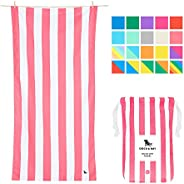 Lightweight Beach Towel for Travel - Kuta Pink, Extra Large (200x90cm, 78x35) - Fast Dry Towel for Swim, Campi