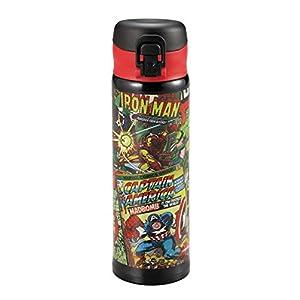 パール金属 マーベル 水筒 ボトル 500ml 直飲み 軽量 ワンタッチオープン ダブル ステンレス ボトル 真空断熱 コミック