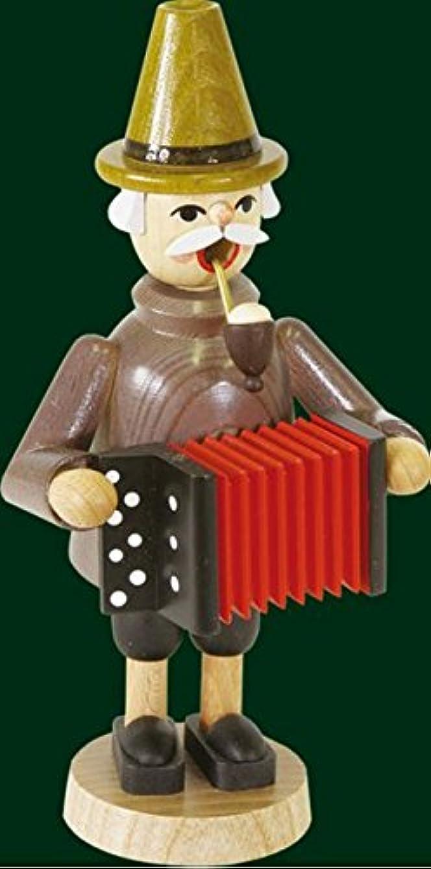 体操一過性通貨アコーディオンプレーヤーGerman木製クリスマスIncense Smoker
