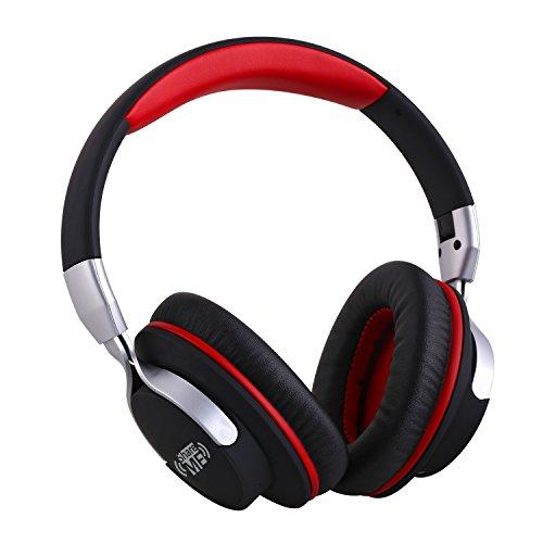 【技適認証済】 AUSDOM AH861 bluetooth 4.1 ヘッドホン 密閉型ワイヤレス 高音質 折り畳み式 軽量 ShareMe機能付き 有線無線両用 マイクロフォン 通話可能