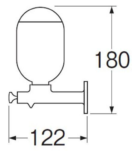 三栄水栓 【石けん水容器】壁付けタイプのプッシュ石ケン水容器 ステンレス W161