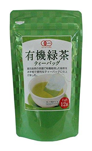 寿老園 有機緑茶ティーバッグ 12包入