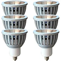 LEDスポットライト ez10 12v ダイクロハロゲン形 COB7W ハロゲンランプ60W~75W相当 密閉器具対応 6個セット (昼白色相当(中角30度), EZ10口金(調光器非対応))