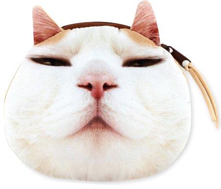 【ミニポーチ】 pouch 猫フェイスポーチ 8Type 小銭入れ ミニファスナーポーチ (F)