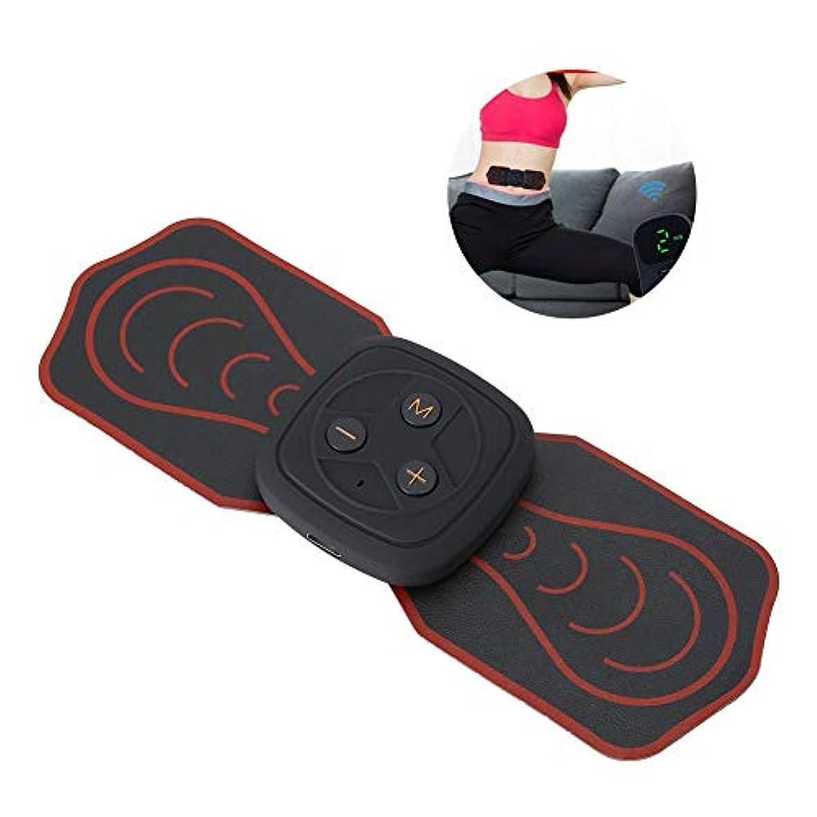 ねばねば関連付けるまっすぐにする首サポーターミニマッサージャー多機能パッド低周波デジタルマッサージ用背中足足筋肉