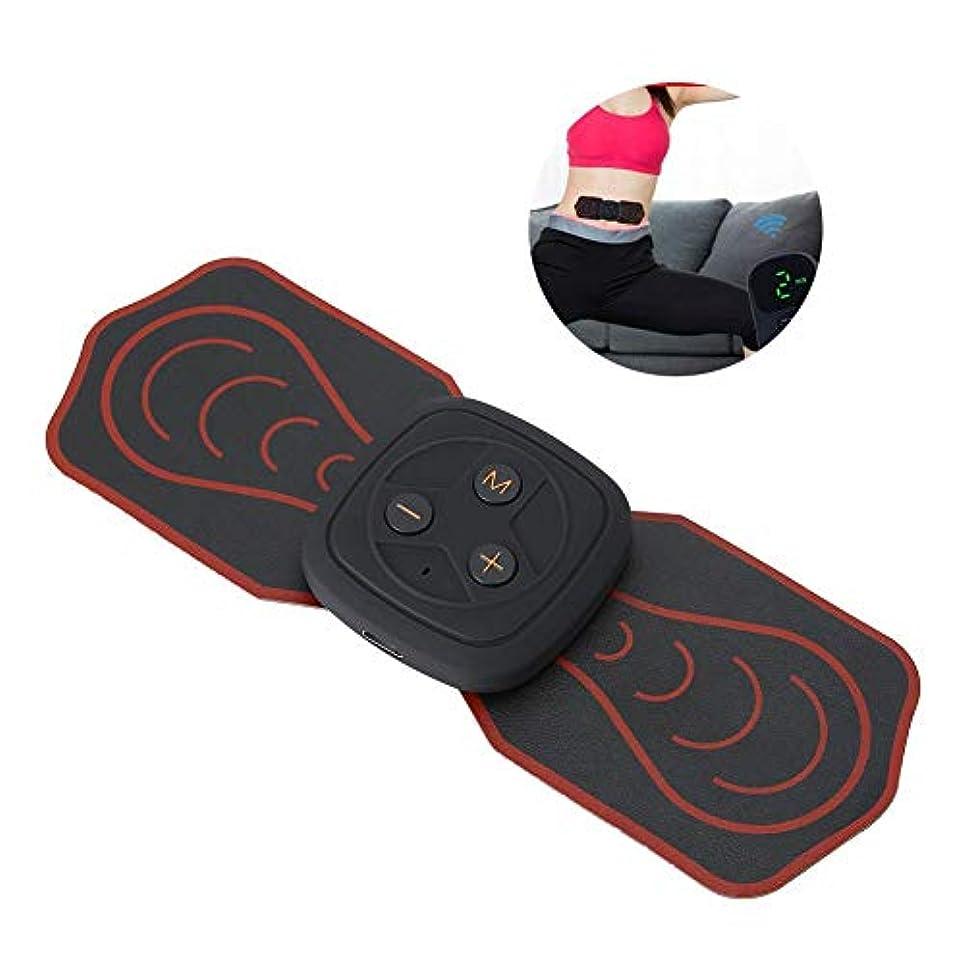 動的ぎこちない赤面首サポーターミニマッサージャー多機能パッド低周波デジタルマッサージ用背中足足筋肉