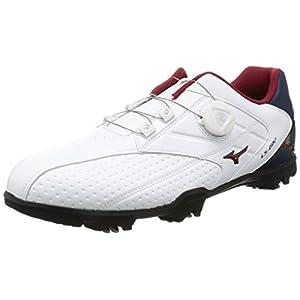 [ミズノゴルフ] ゴルフシューズ ライトスタイル 002 ボア 14 ホワイト×ネイビー 26.5 3E