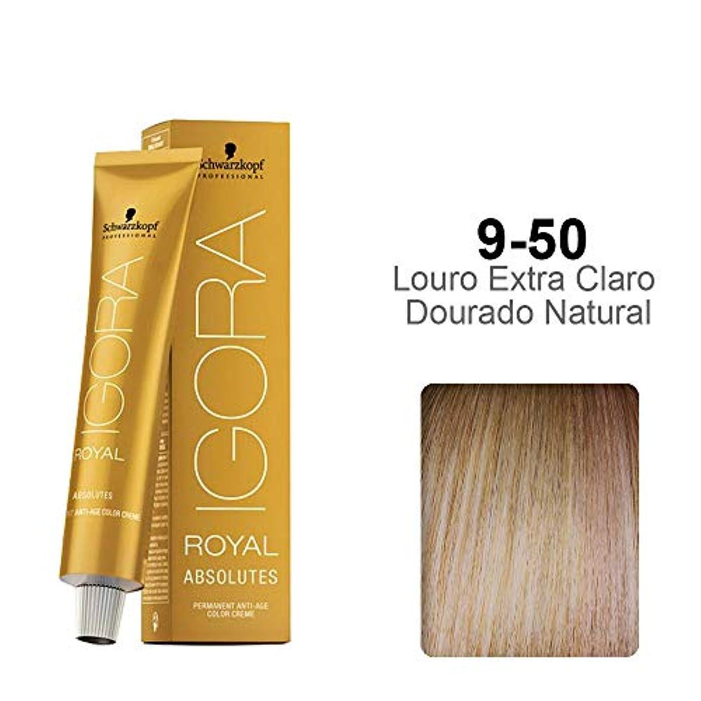 美容師有効無許可Schwarzkopf Professional IGORAロイヤルアブソリュートヘアカラー - 2.1オンス 9-50エクストラライトブロンドゴールドナチュラル