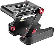 Neewer Folding Z Flex Tilt Head Tripod Ball Head with Quick Shoe QR Plate -Aluminum Alloy Camera Bracket with
