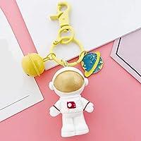 MODMHB 宇宙飛行士 キーホルダー 車ペンダント キーチェーン キーリング かわいい アクセサリー 人気 プレゼント PVC,イエローベル