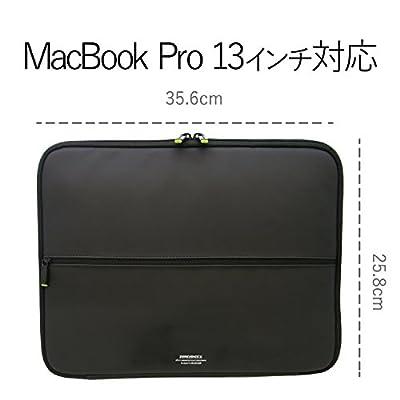 エレコム インナーバッグ ノートパソコンケース 保護ケース  衝撃吸収 ZEROSHOCK スリム( MacBook Pro 13) 12.1/12.5/13/13.3W ZSB-IBUB02BK