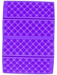 ポータブルXPE防湿ハニカムクッションパープル-パープル