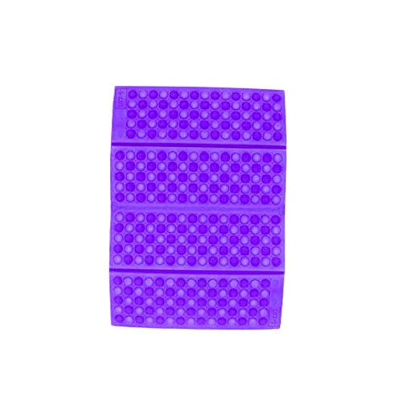 発生する誤解させる変化ポータブルXPE防湿ハニカムクッションパープル-パープル