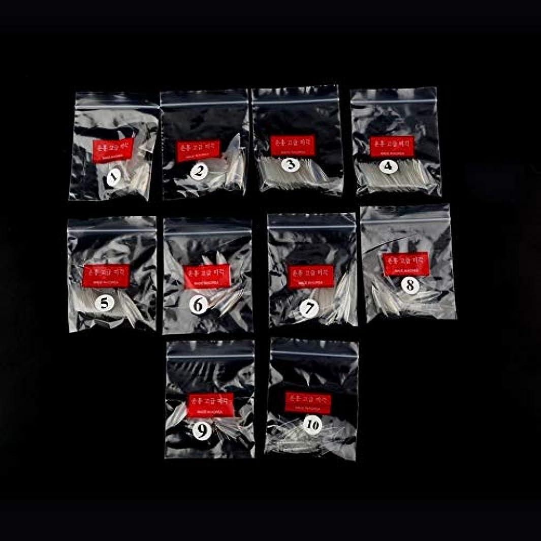 レンジ陽気な護衛AAcreatspace 500ピース女性女の子透明ナチュラルホワイトポイントスティレットフレンチアクリルUVジェル偽ネイルのヒントアート装飾ツール