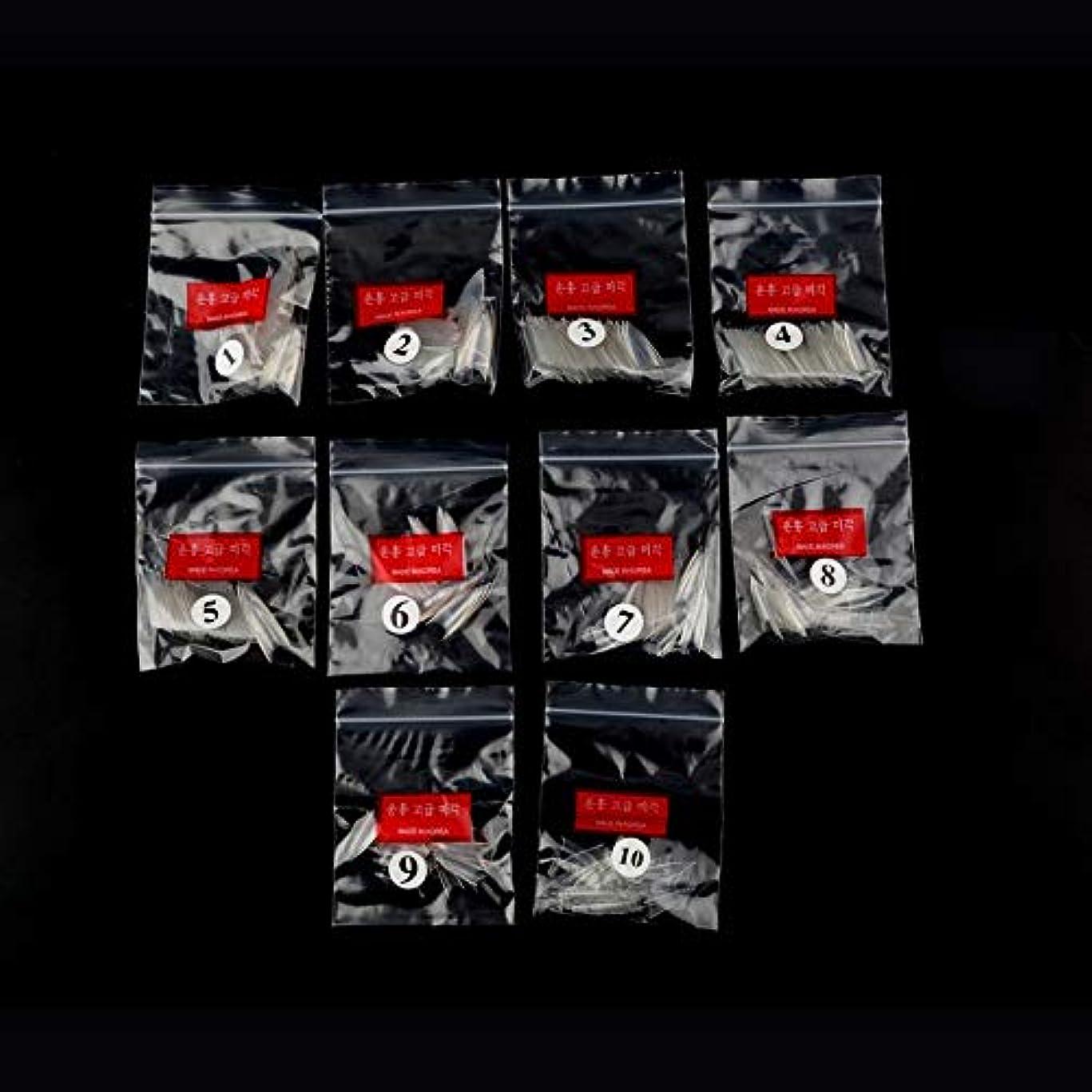 さわやか準拠立派なAAcreatspace 500ピース女性女の子透明ナチュラルホワイトポイントスティレットフレンチアクリルUVジェル偽ネイルのヒントアート装飾ツール
