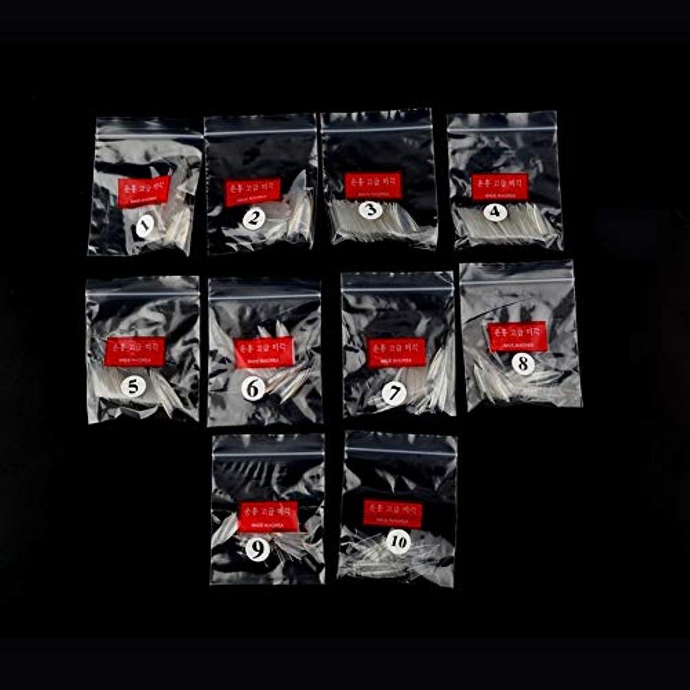整理するそばに中絶AAcreatspace 500ピース女性女の子透明ナチュラルホワイトポイントスティレットフレンチアクリルUVジェル偽ネイルのヒントアート装飾ツール