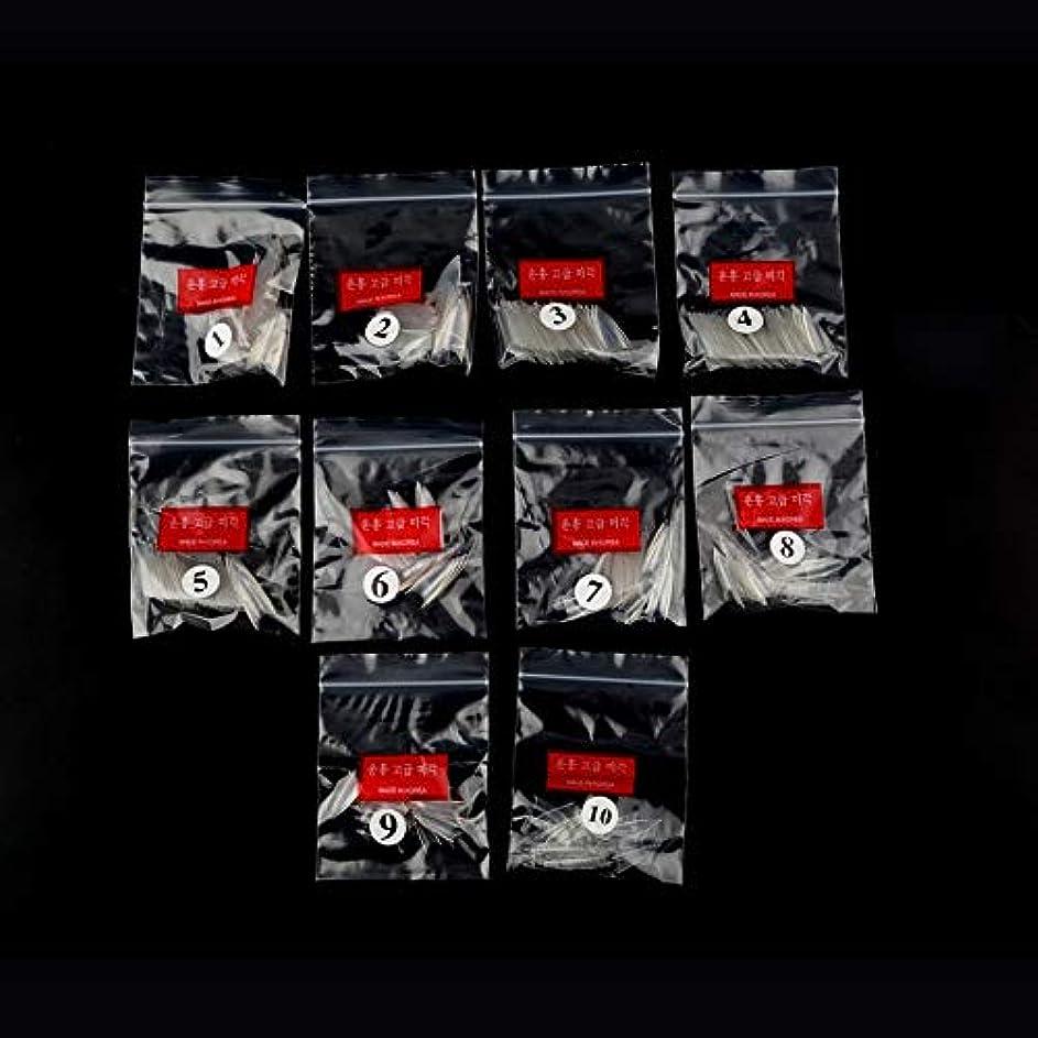 暴力的なアルファベット順縞模様のAAcreatspace 500ピース女性女の子透明ナチュラルホワイトポイントスティレットフレンチアクリルUVジェル偽ネイルのヒントアート装飾ツール