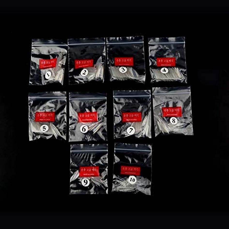 割り込み家温度AAcreatspace 500ピース女性女の子透明ナチュラルホワイトポイントスティレットフレンチアクリルUVジェル偽ネイルのヒントアート装飾ツール