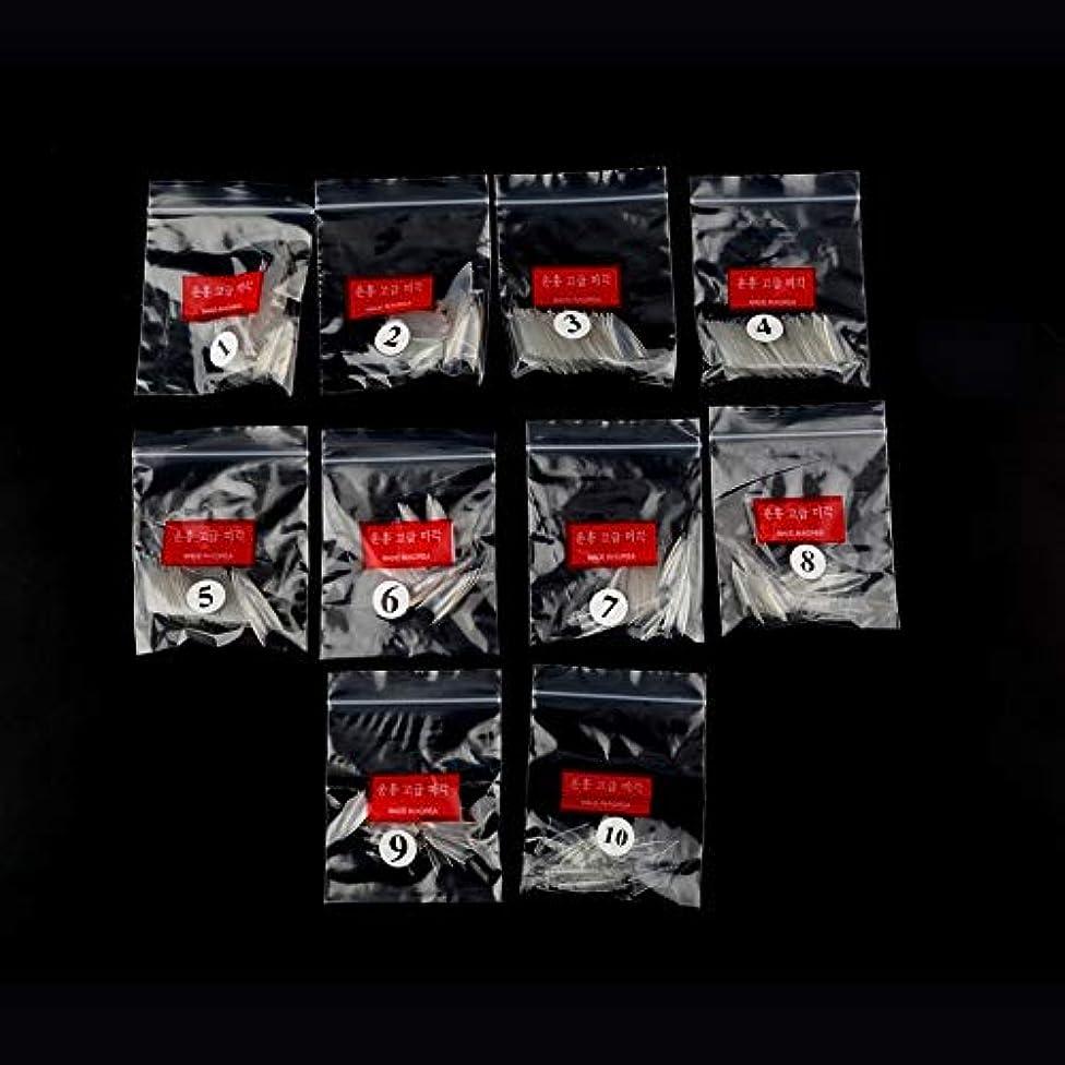 刺す全国カップAAcreatspace 500ピース女性女の子透明ナチュラルホワイトポイントスティレットフレンチアクリルUVジェル偽ネイルのヒントアート装飾ツール