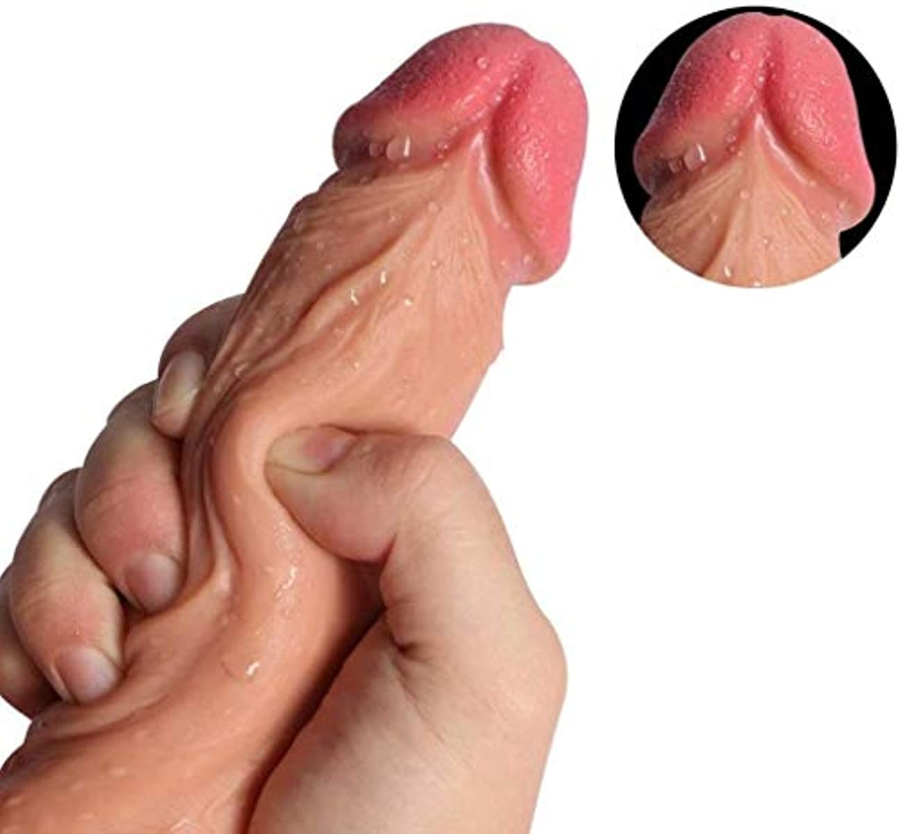 テレマコス従者オーブンマッサージハンズフリープレイ用吸盤付き超柔らかい現実的な玩具、初級トレーナー - 初心者のための適切な