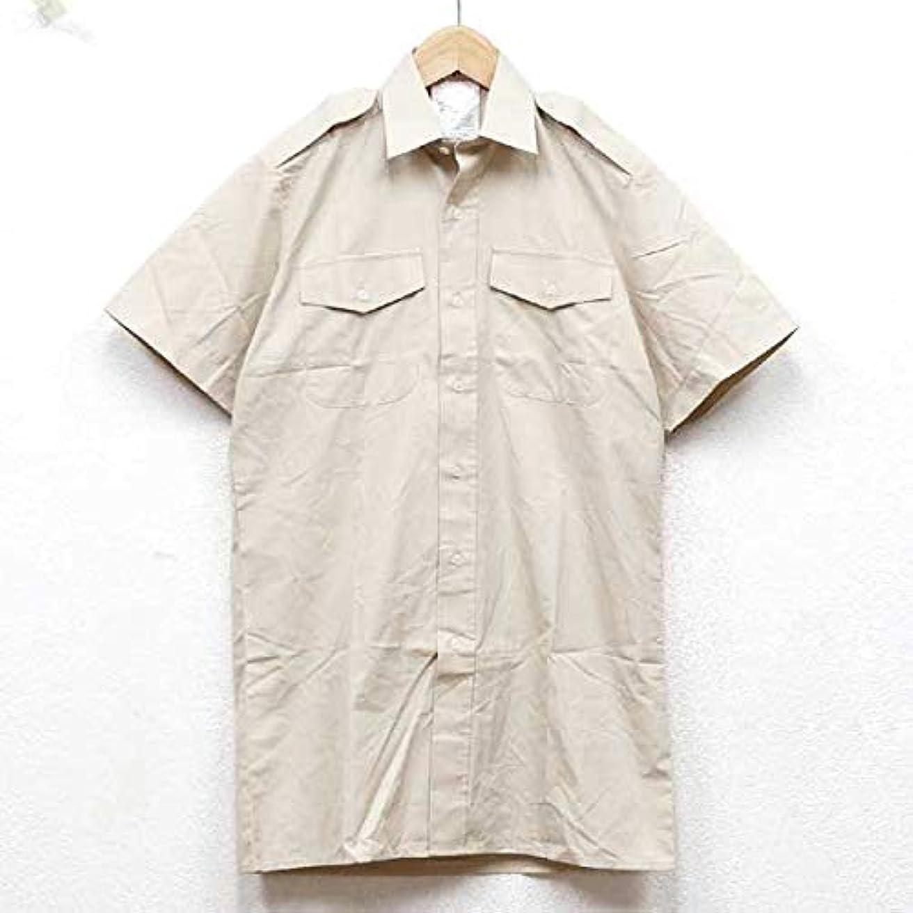 所持咽頭スタイルノーブランド品 実物 イギリス軍 ワークシャツ カーキ