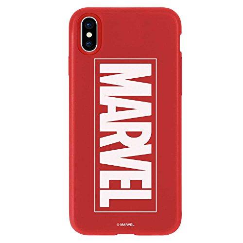 iPhoneX ケース MARVEL マーベル 衝撃吸収 TPU カバー ソフトケース (iPhone X, レッド) [並行輸入品]