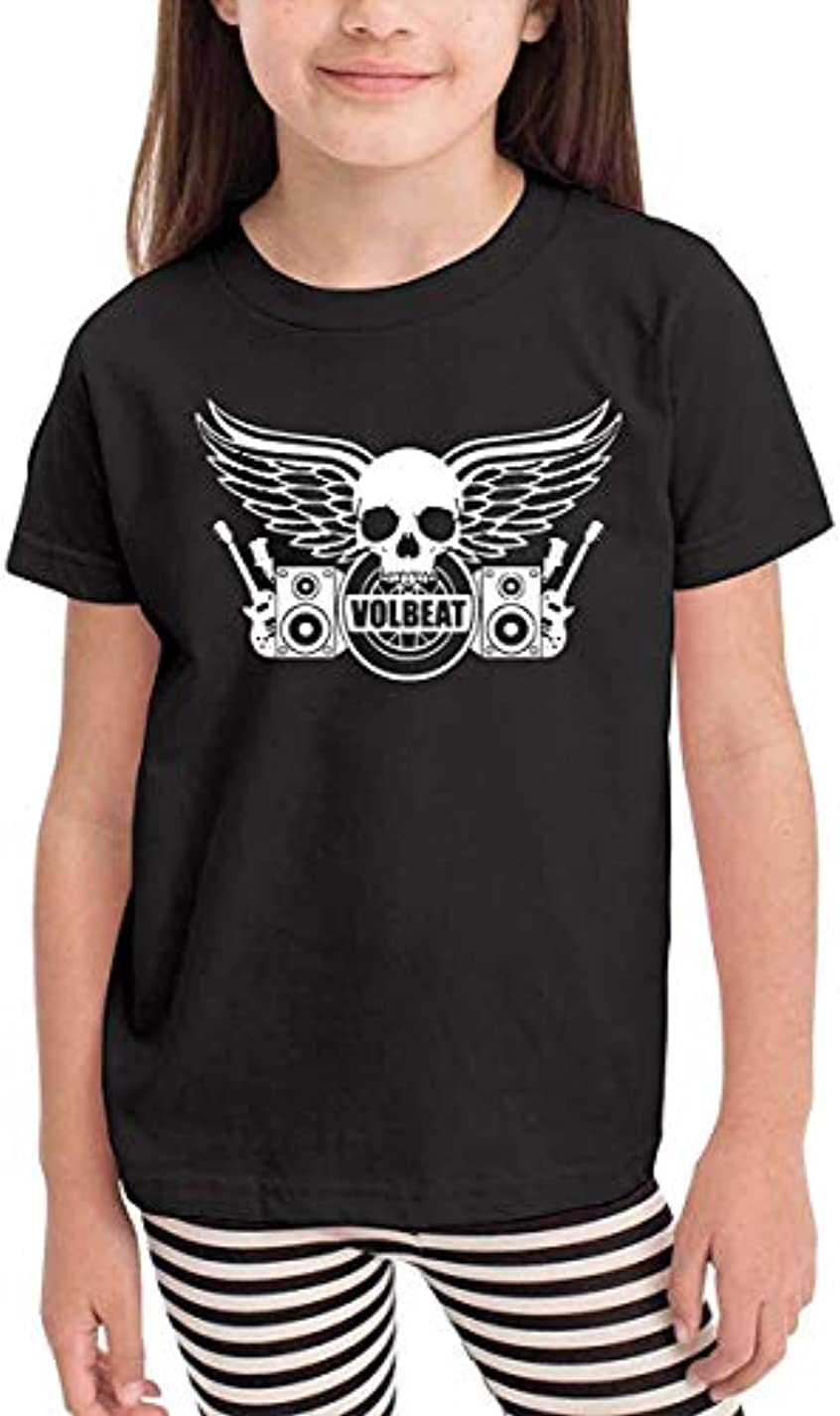 メンタリティ警戒直径Volbeat Infant Kids Comfort半袖Tシャツブラック
