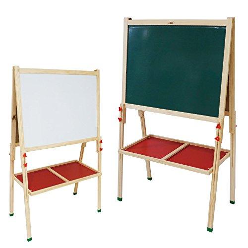 ホワイトボード 黒板 マグネット おしゃれ 木製 トレイ 脚付き お絵描き ブラックボード ウェルカム □_74136