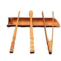 Flameer 竹製 手作り 中国茶道 4個セット 茶室 部屋 ティークリップ ティーニードル お土産 ギフト