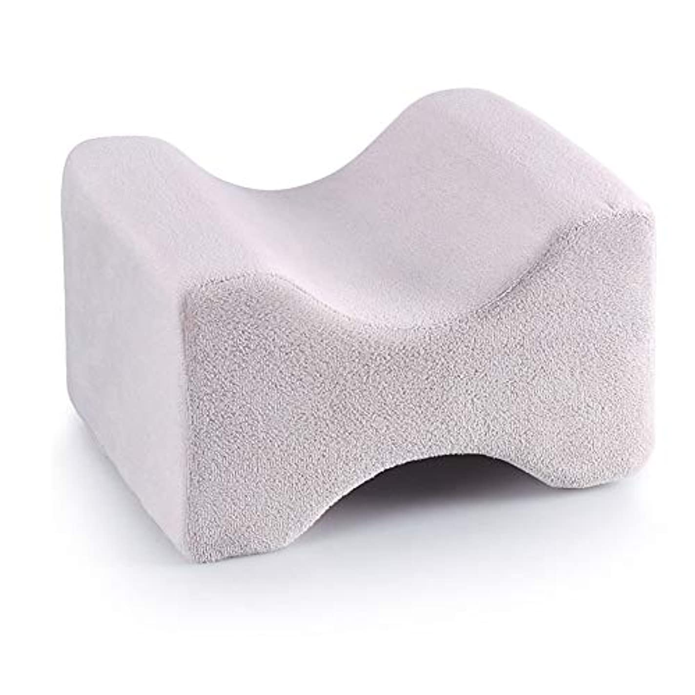 不屈から聞くコンテンポラリー3パック整形外科用膝枕用リリーフ、取り外し可能な洗えるカバー、低反発ウェッジの輪郭を促し、睡眠を促進し、血液循環を改善