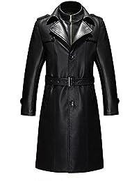 ラムレザーコート ロングコート メンズ ダスター アウター 羊皮コート 本革コート オーバーコート 紳士服 暖かい ブラック