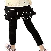 Plus Nao(プラスナオ) レギンス スカート付きパンツ レギンス付きスカート ベビー キッズ 女の子 ボトムス フルススカート 2段フリル 無地