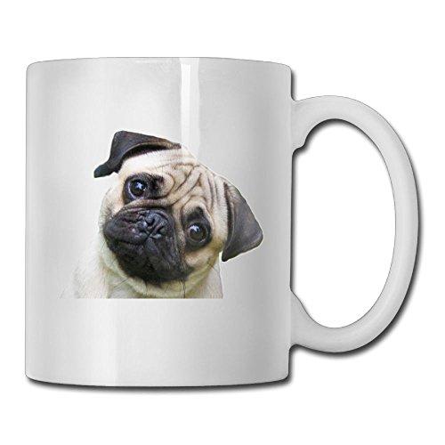 WalDeal マグカップ おしゃれ コップ コーヒーカップ パグ 犬 かわいい 小さい 愛らしいロゴ入り 食器 洋風 カフェ オフィス用品 カップ 耐熱 ギフトラッピング