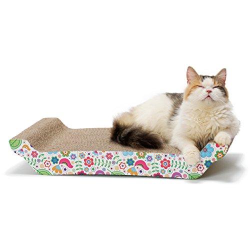 猫壱 バリバリ ベッド L 花柄