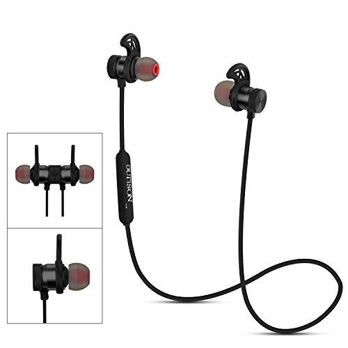 DUTISON Bluetooth 4.1 ワイヤレス イヤホン ヘッドセット ブルートゥース イヤホン CVC6.0 防汗 防滴 軽量 高音質 マイク内蔵 スポーツに最適 (ブラック)