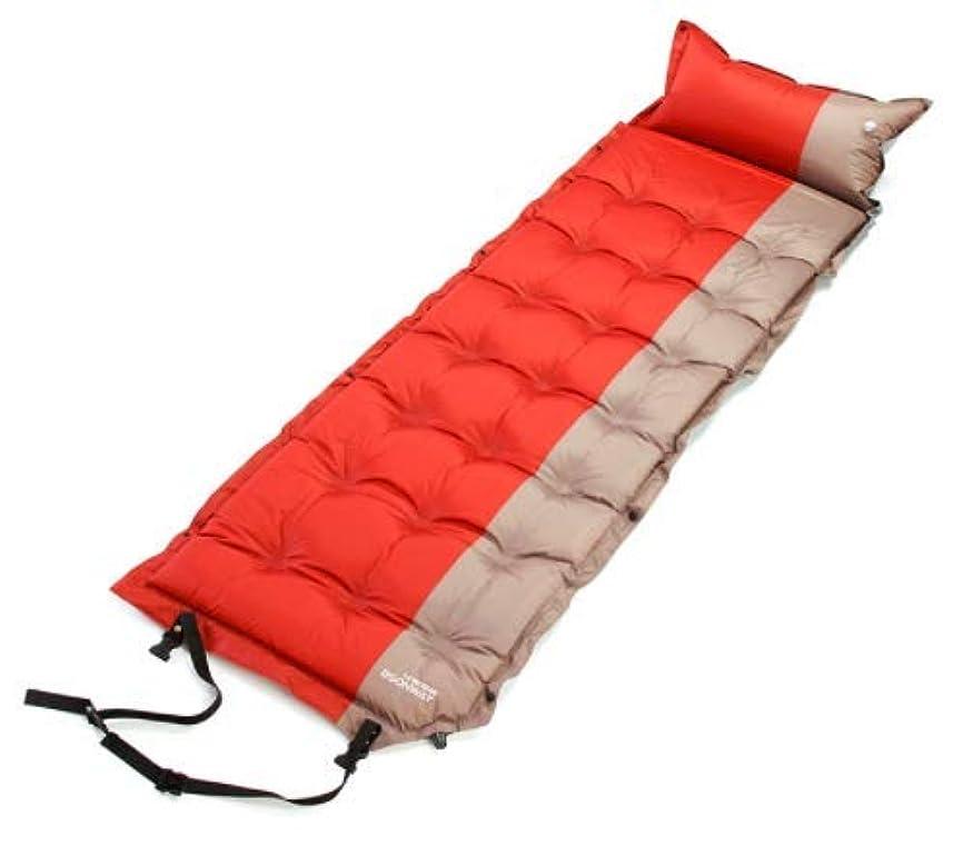 撤退啓発する破壊的KYAWJY 屋外インフレータブルクッション厚い防水キャンプテント湿気パッドシングルスリーピングパッドを接合することができます